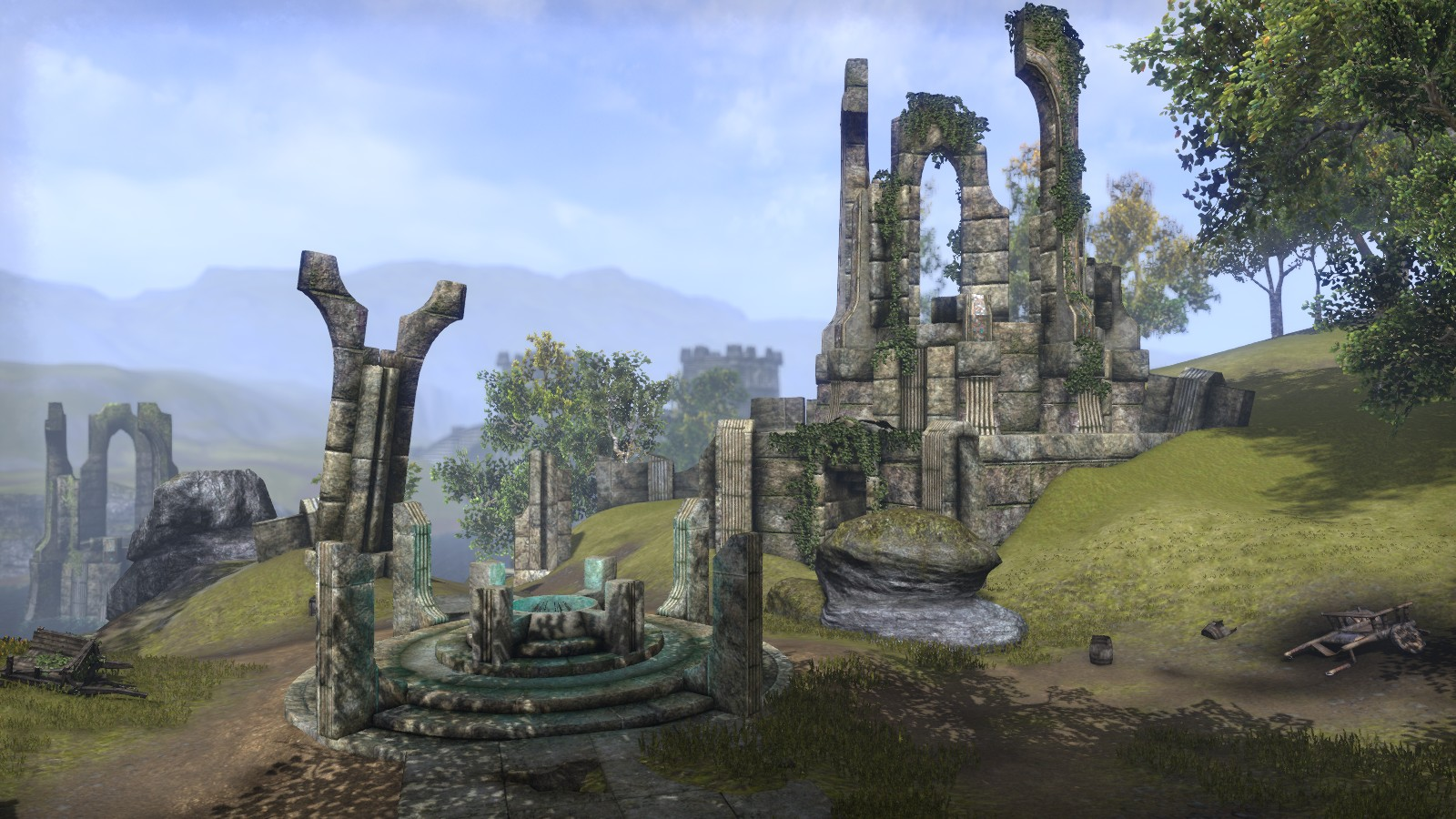 The Elder Scrolls Online screens show a lot of environments, some