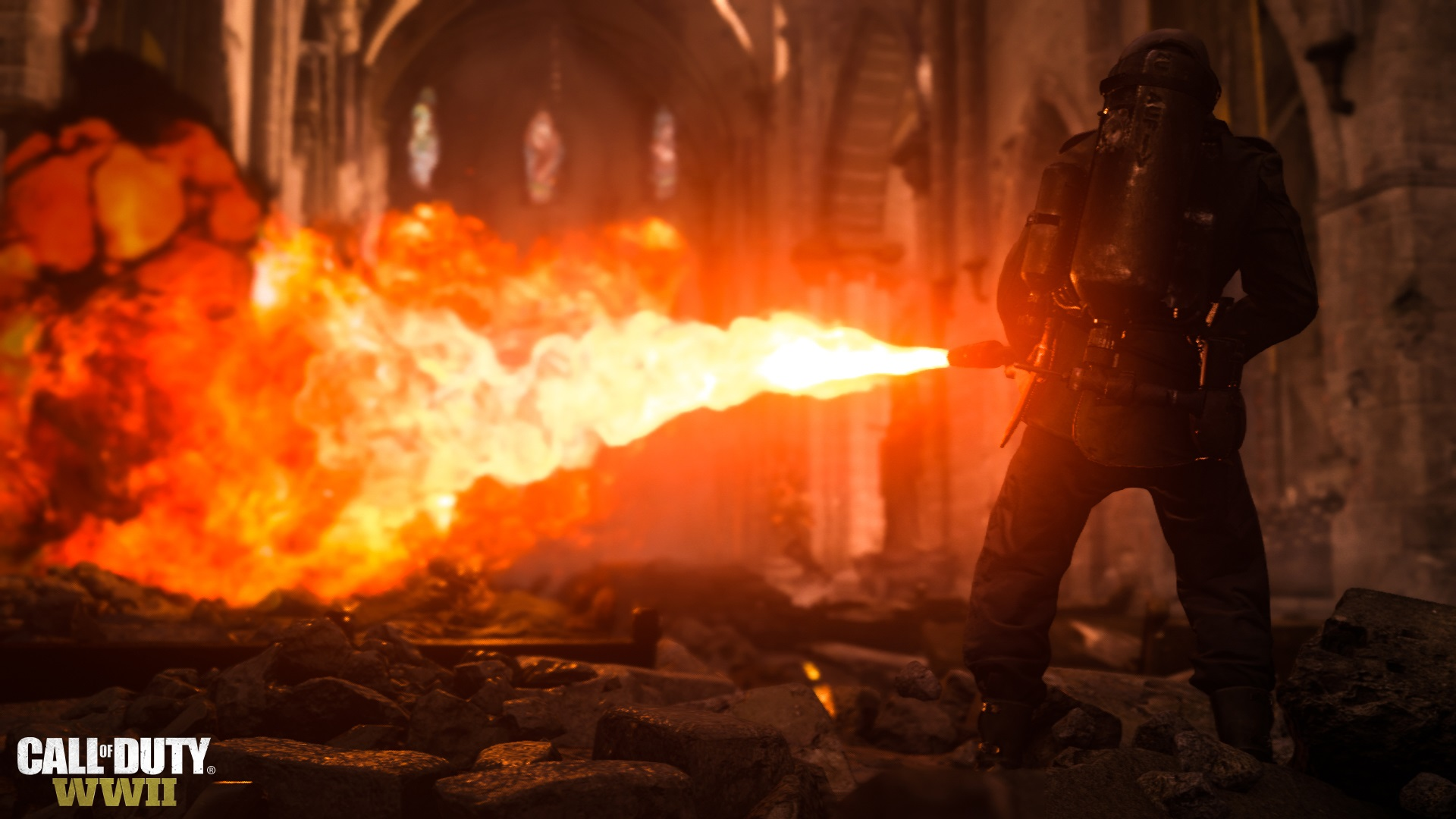 Call of Duty WWII multiplayer beta flamethrower