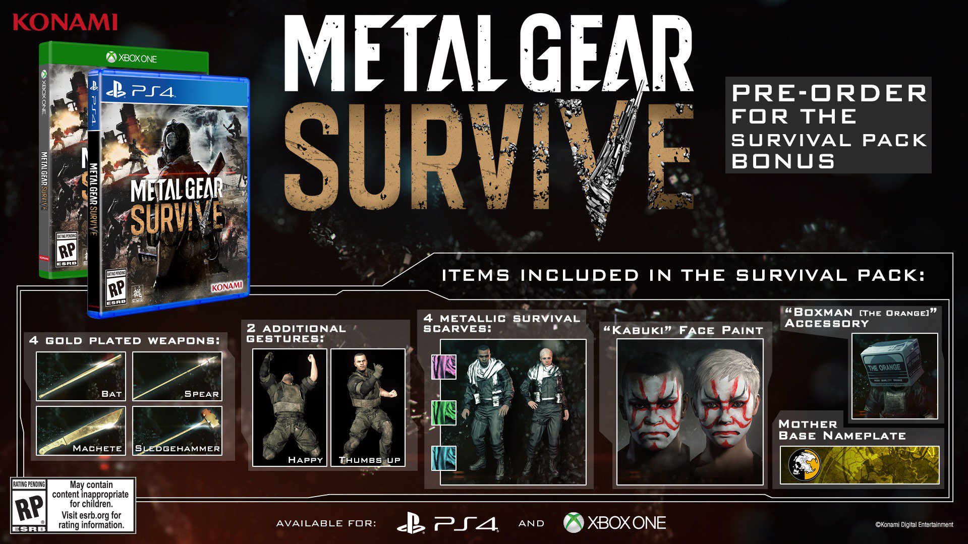 Metal Gear Survive Survival Pack