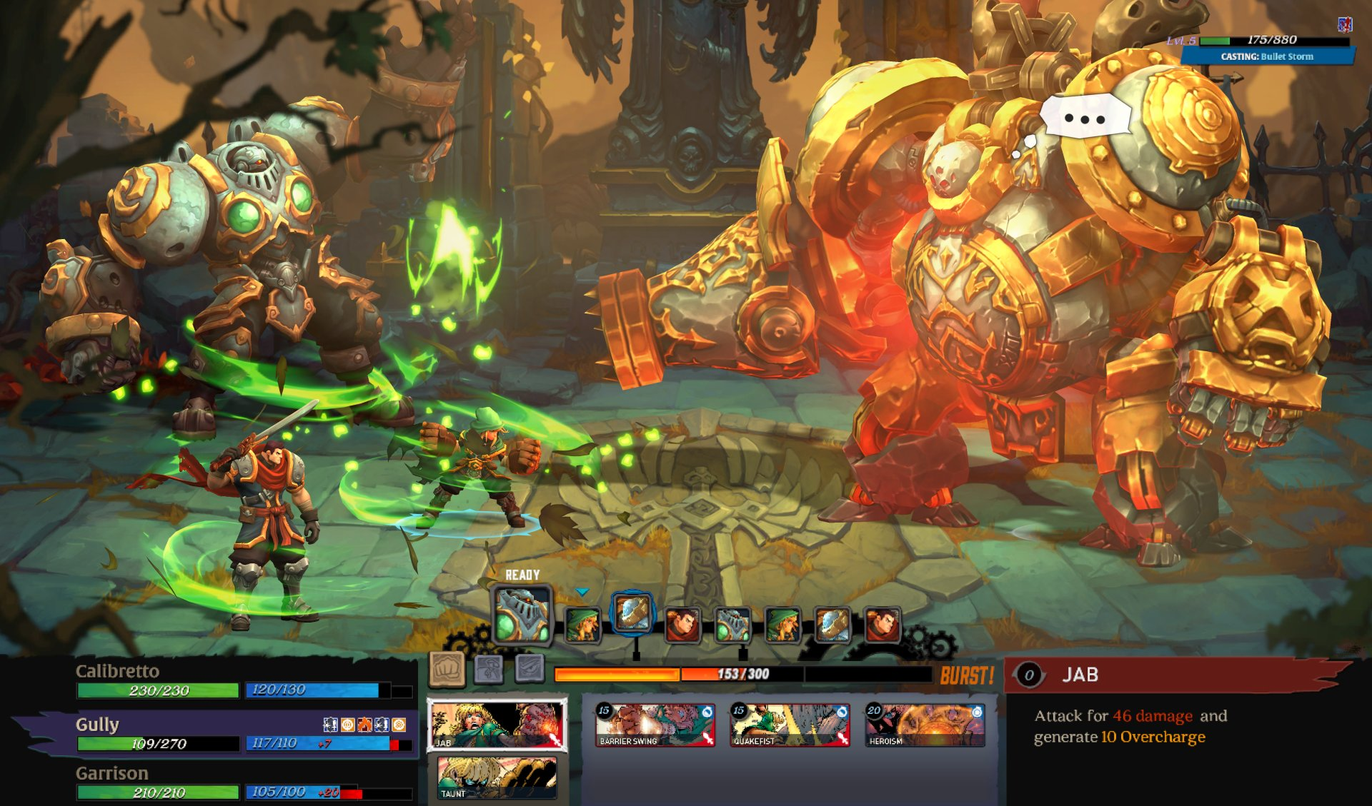 Battle Chasers: Nightwar review combat