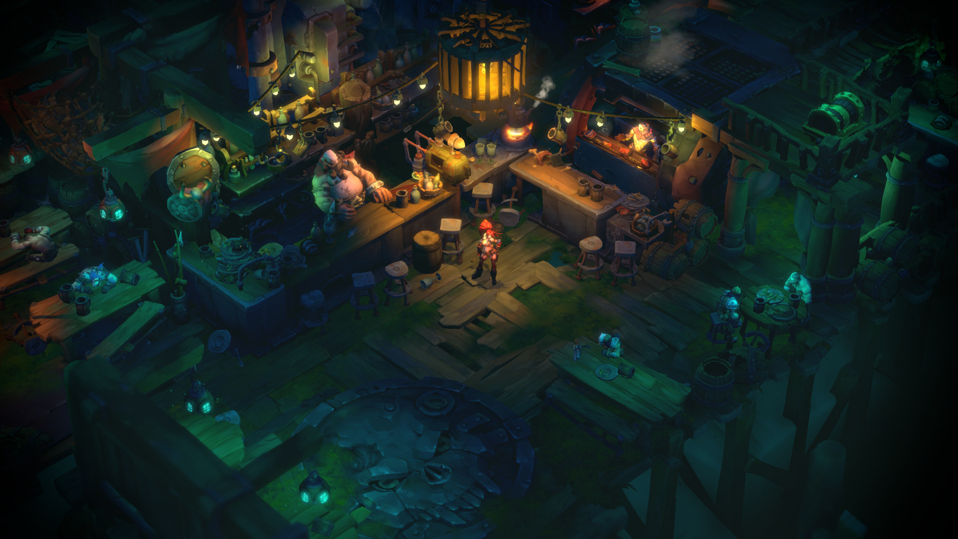 Battle Chasers: Nightwar review town