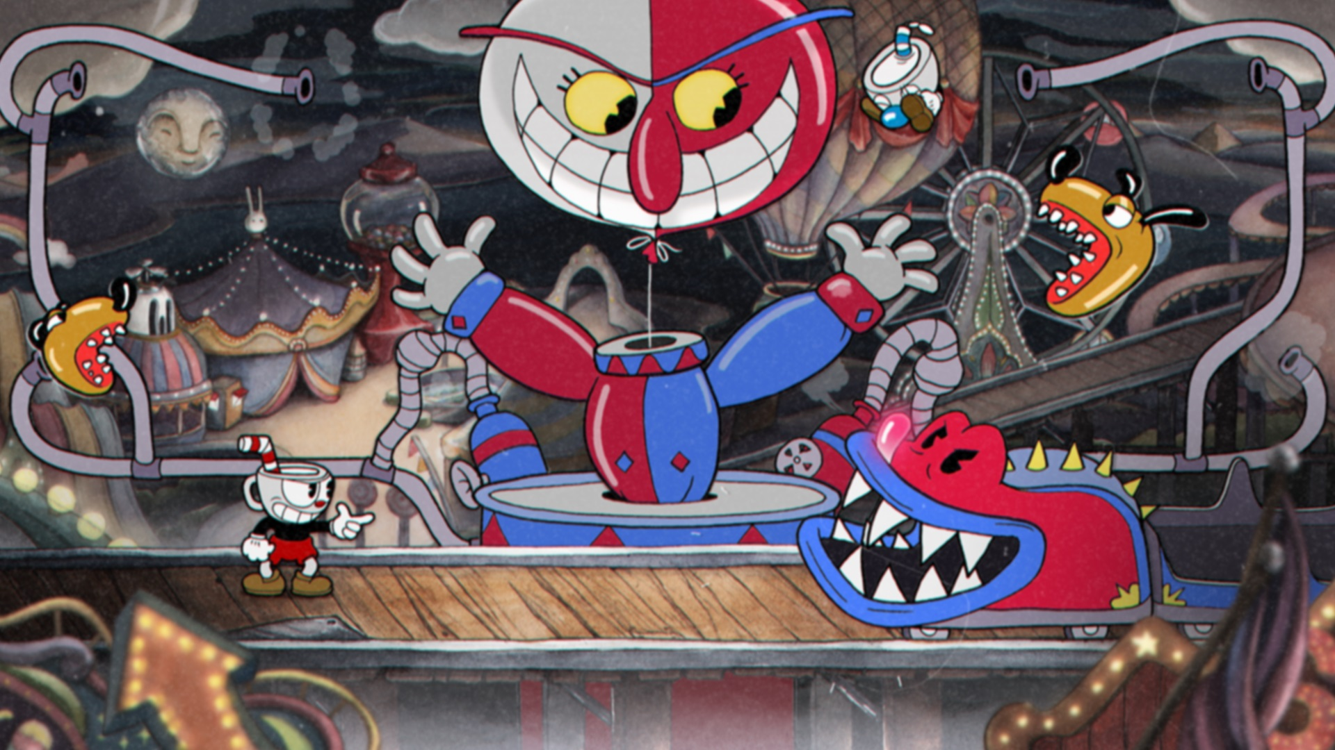 Cuphead review clown boss
