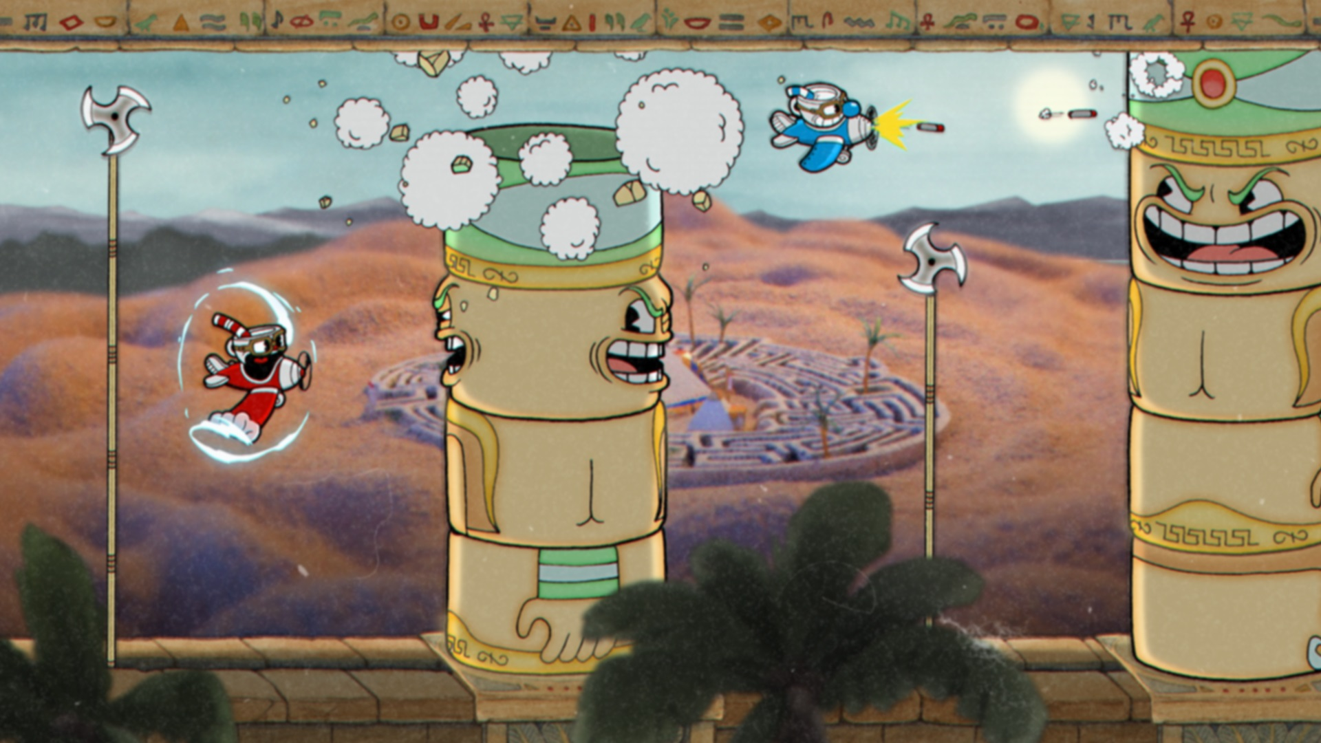 Cuphead review airplane level