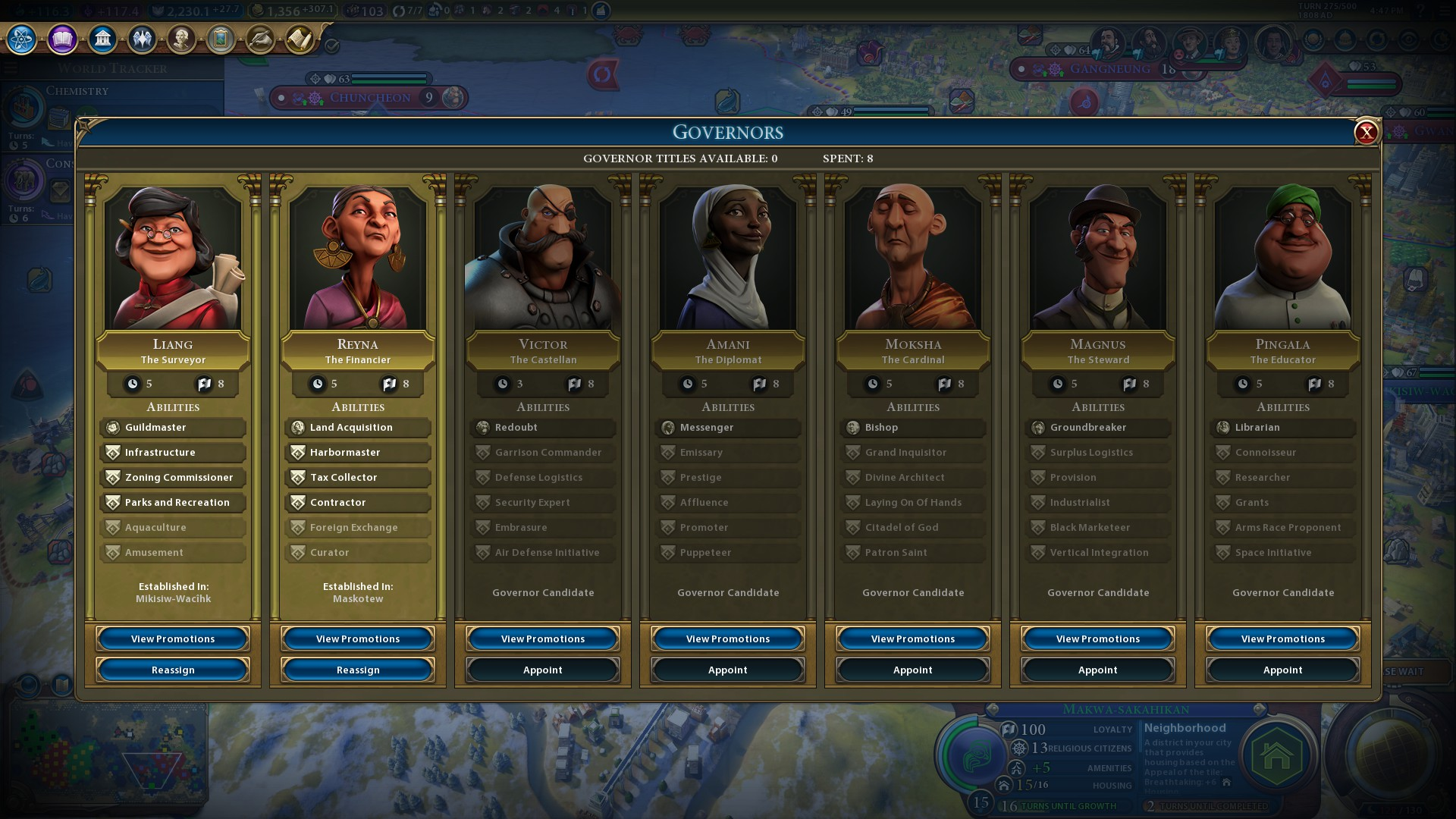 Civilization 6: Rise and Fall review Governor