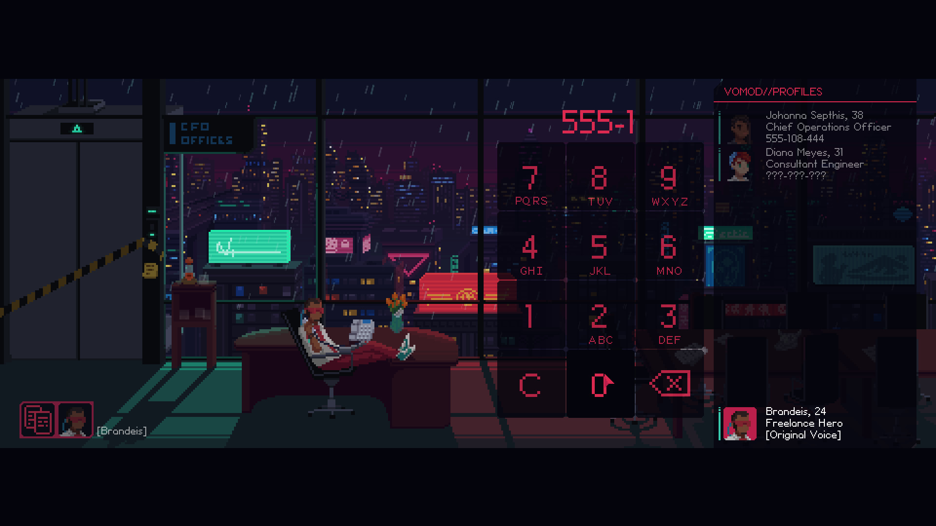 The Red Strings Club review Phone