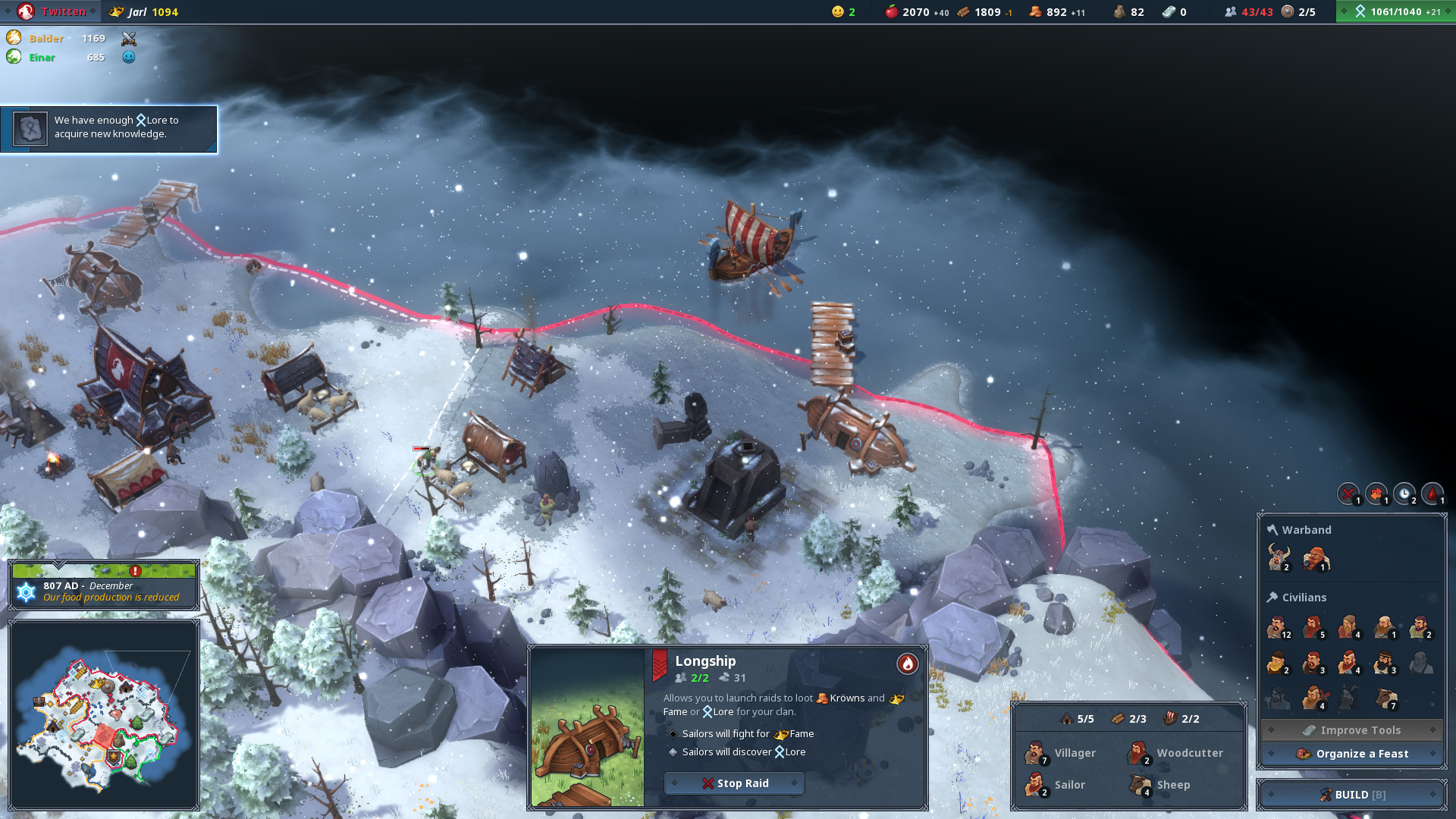 Northgard review Winter