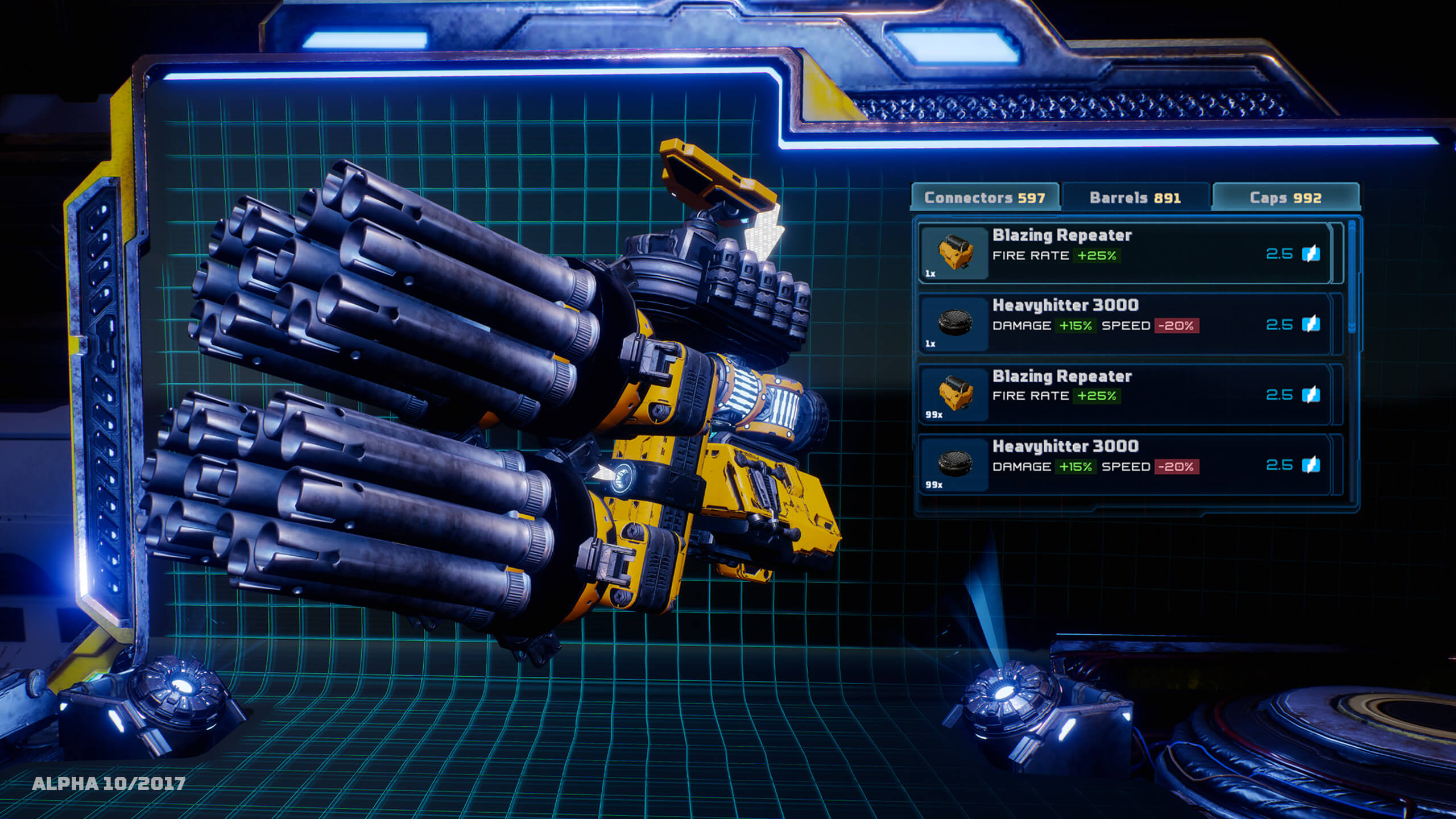 Mothergunship gun customization