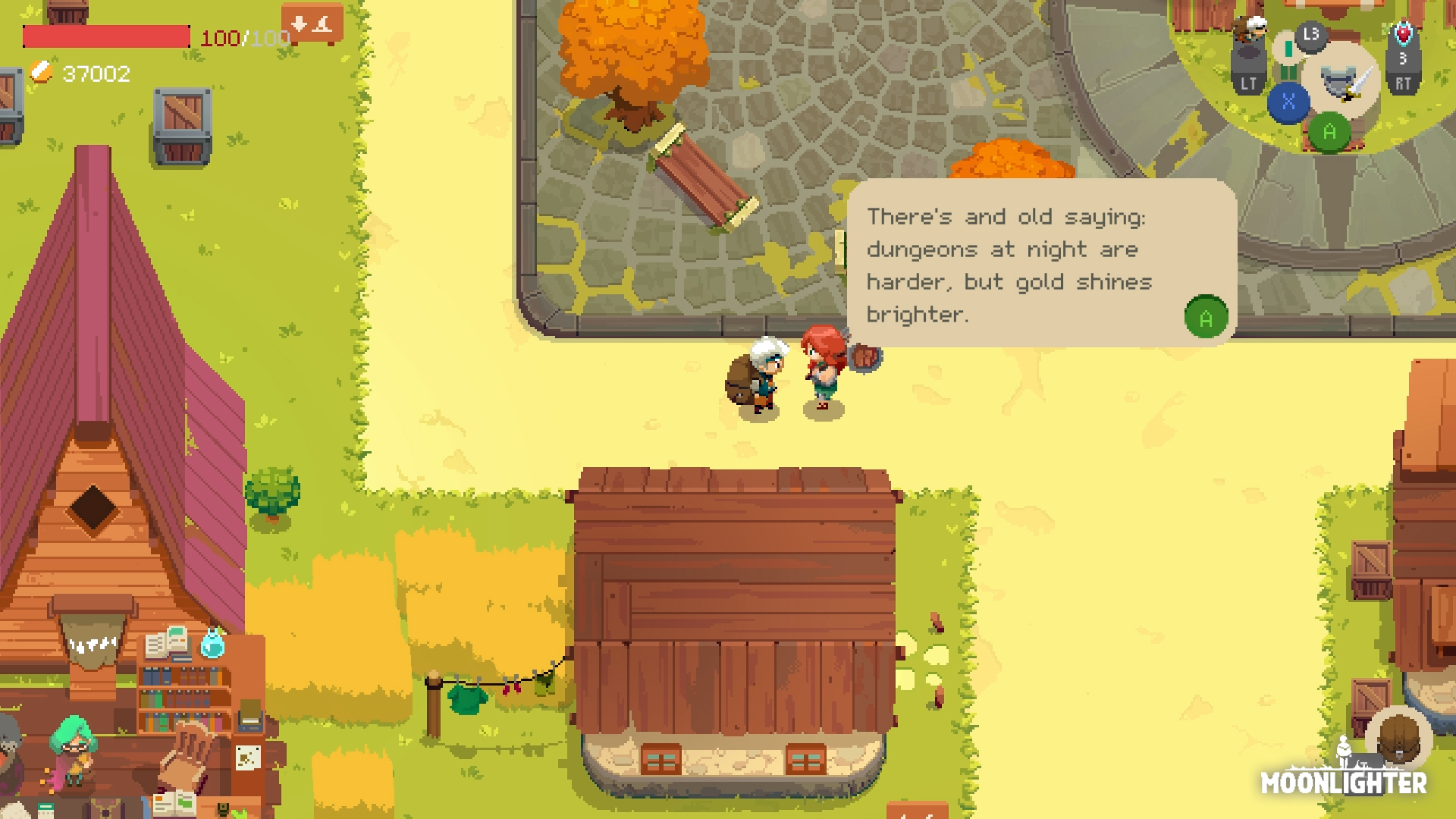 Moonlighter review - town