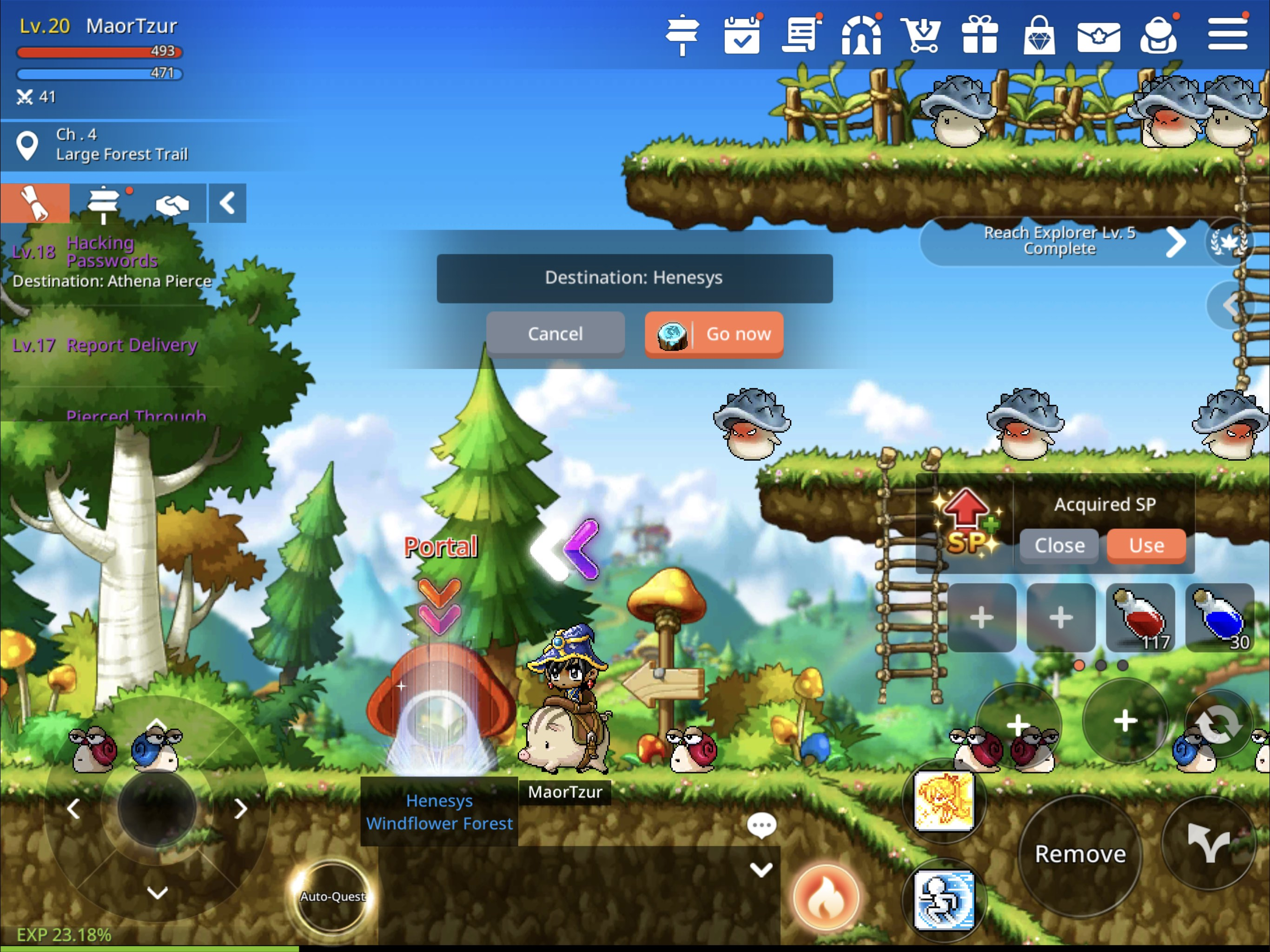 MapleStory M gameplay