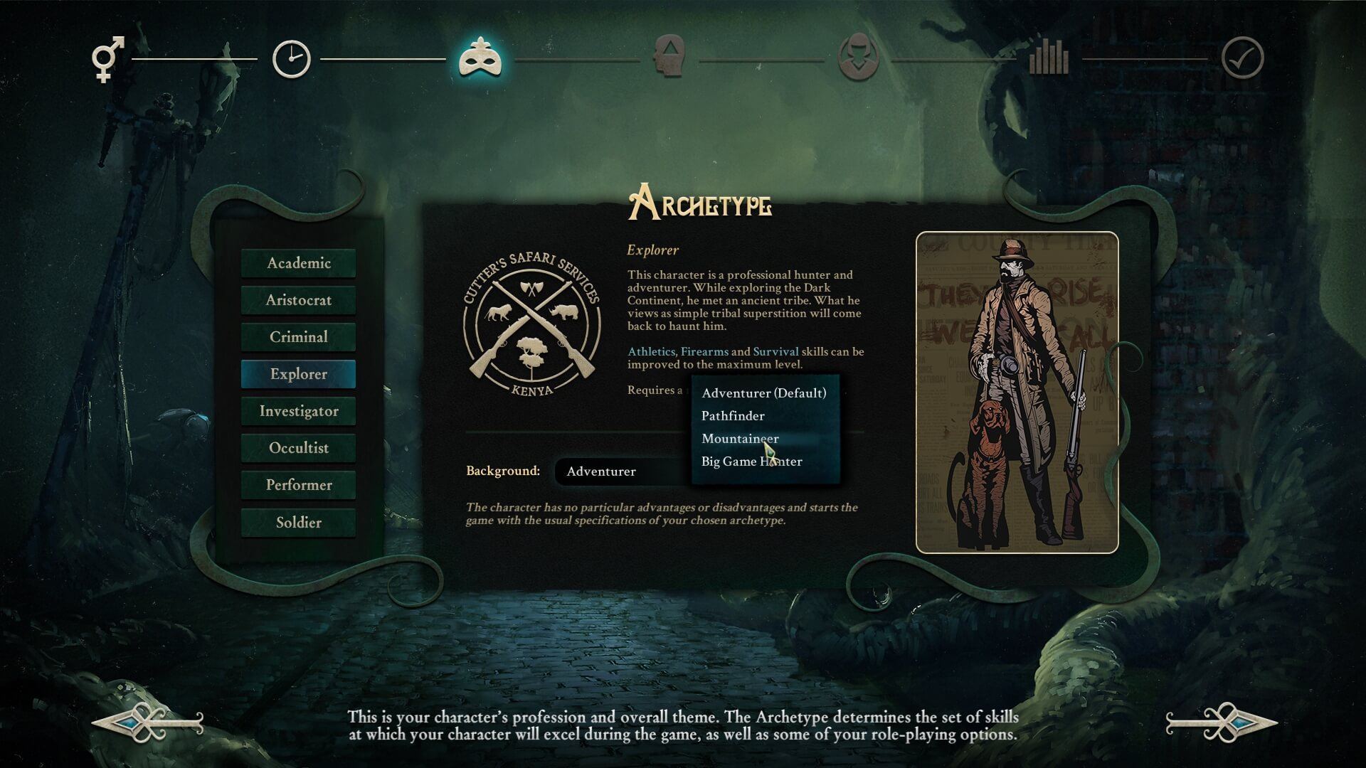 Stygian: Reign of the Old Ones character creator