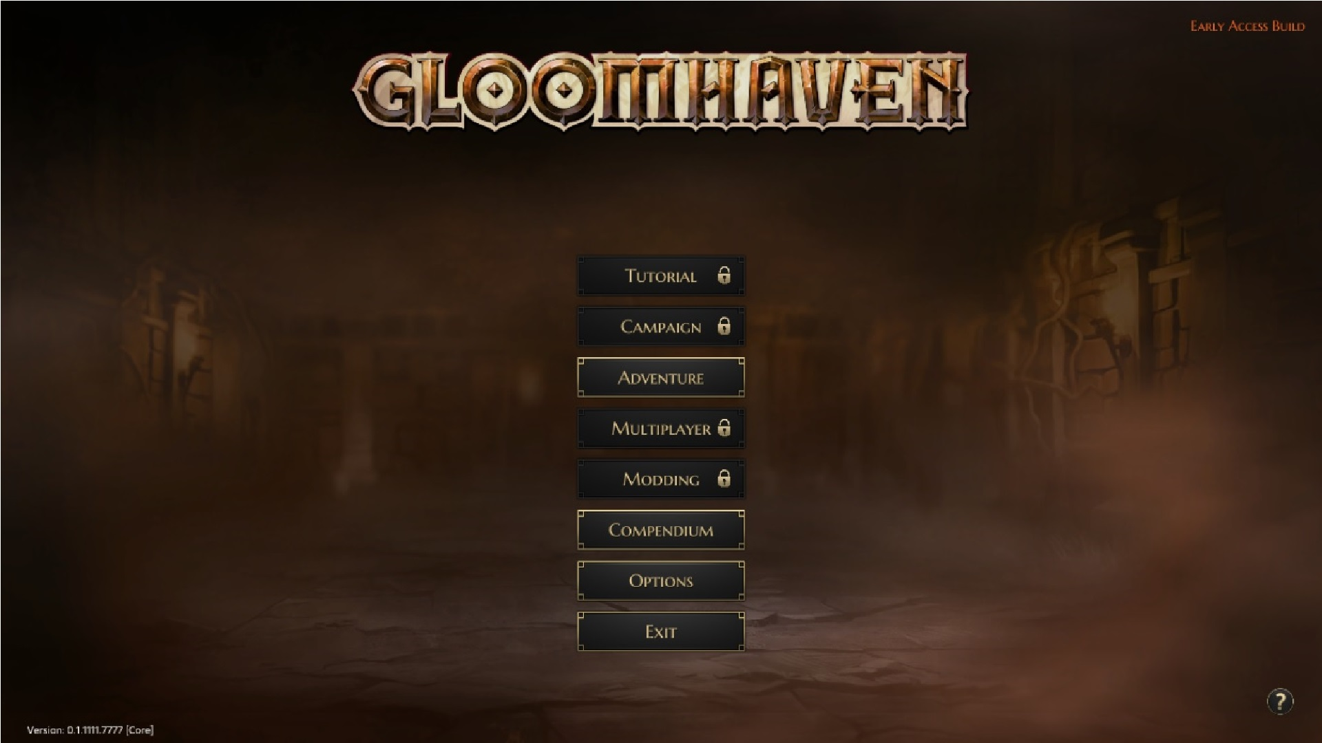 Gloomhaven title screen