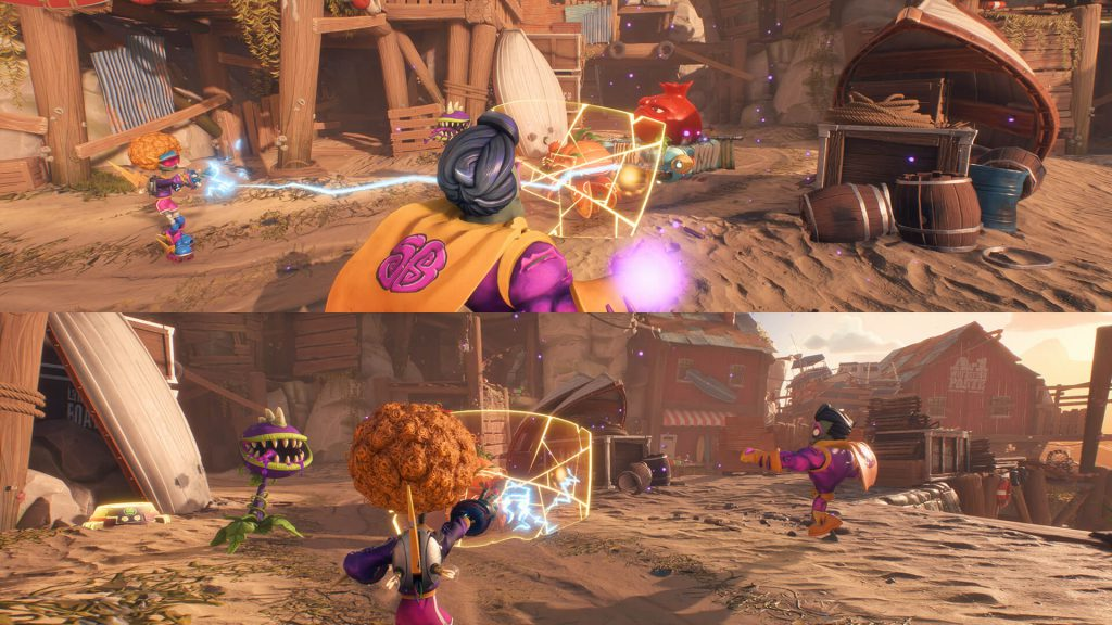 Plants vs. Zombies: Battle for Neighborville split-screen
