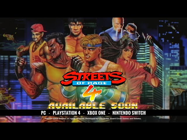 Streets of Rage 4 video retro fighters