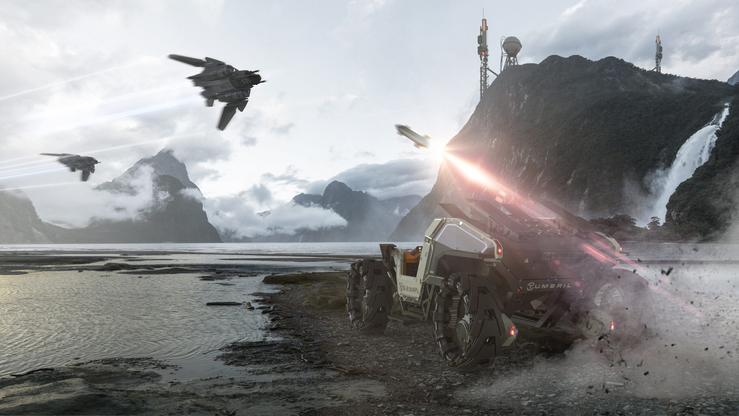 Tumbril Cyclone-AA vs Aegis Sabre stealth fighter.