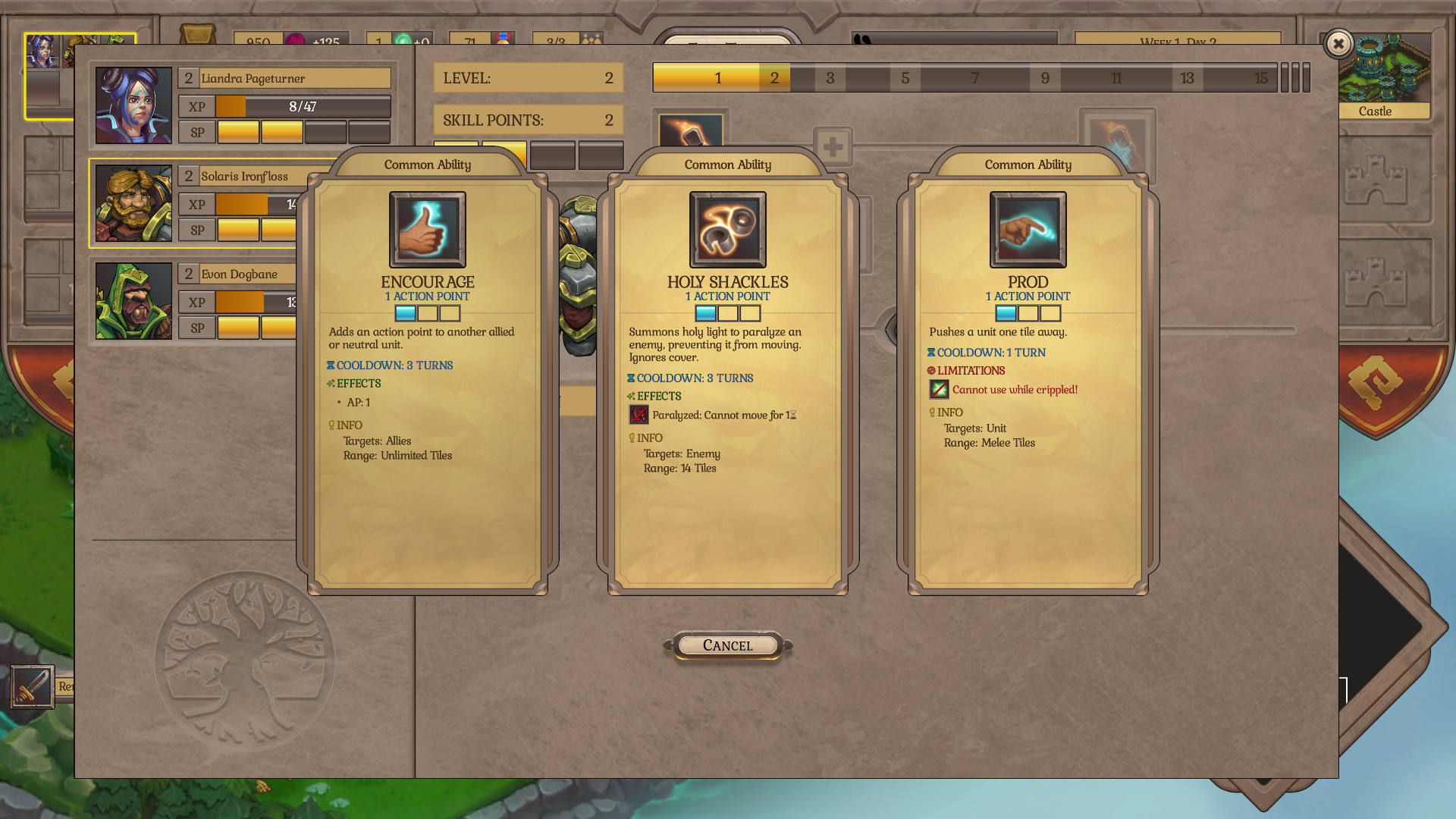 Fort Triumph review - skills